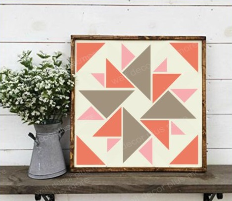 Barn Quilt Stencil Art Vinyl Sticker Wood Project DIY Farmhouse Decor